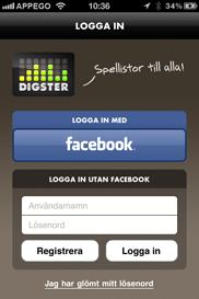 Digster iPhone app (utvecklad av Appego)