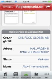 Bluffkoll iPhone app - Skärm 2 (utvecklad av Appego)