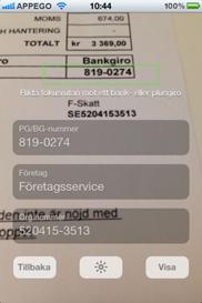 Bluffkoll iPhone app - Skärm 3 (utvecklad av Appego)