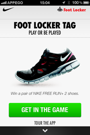 Foot Locker Tag iPhone app (utvecklad av Appego)