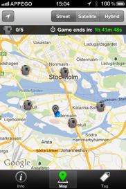 Foot Locker Tag iPhone app - Skärm 2 (utvecklad av Appego)
