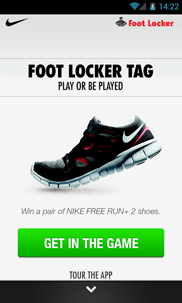 Foot Locker Tag Android app (utvecklad av Appego)