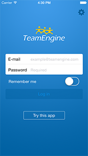 TeamEngine for iPhone app (utvecklad av Appego)
