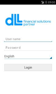 DLL Finance Android app - Skärm 1 (utvecklad av Appego)