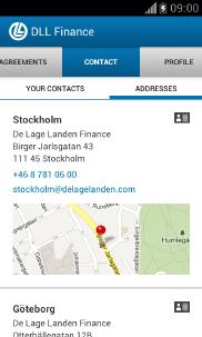 DLL Finans Android app - Skärm 3 (utvecklad av Appego)