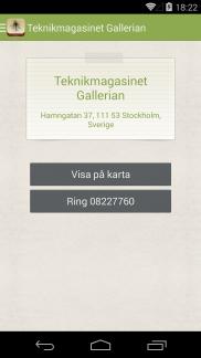 Myggrapporten Android app - Skärm 3 (utvecklad av Appego)