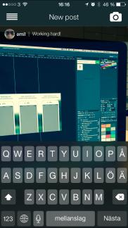WAYD  app - Skärm 2 (utvecklad av Appego)