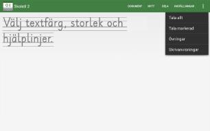 Skolstil för Android app - Skärm 2 (utvecklad av Appego)